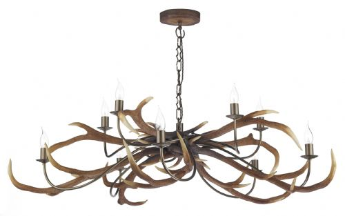 Stag 10-light Made in the Cotswolds Ceiling Light STA2329